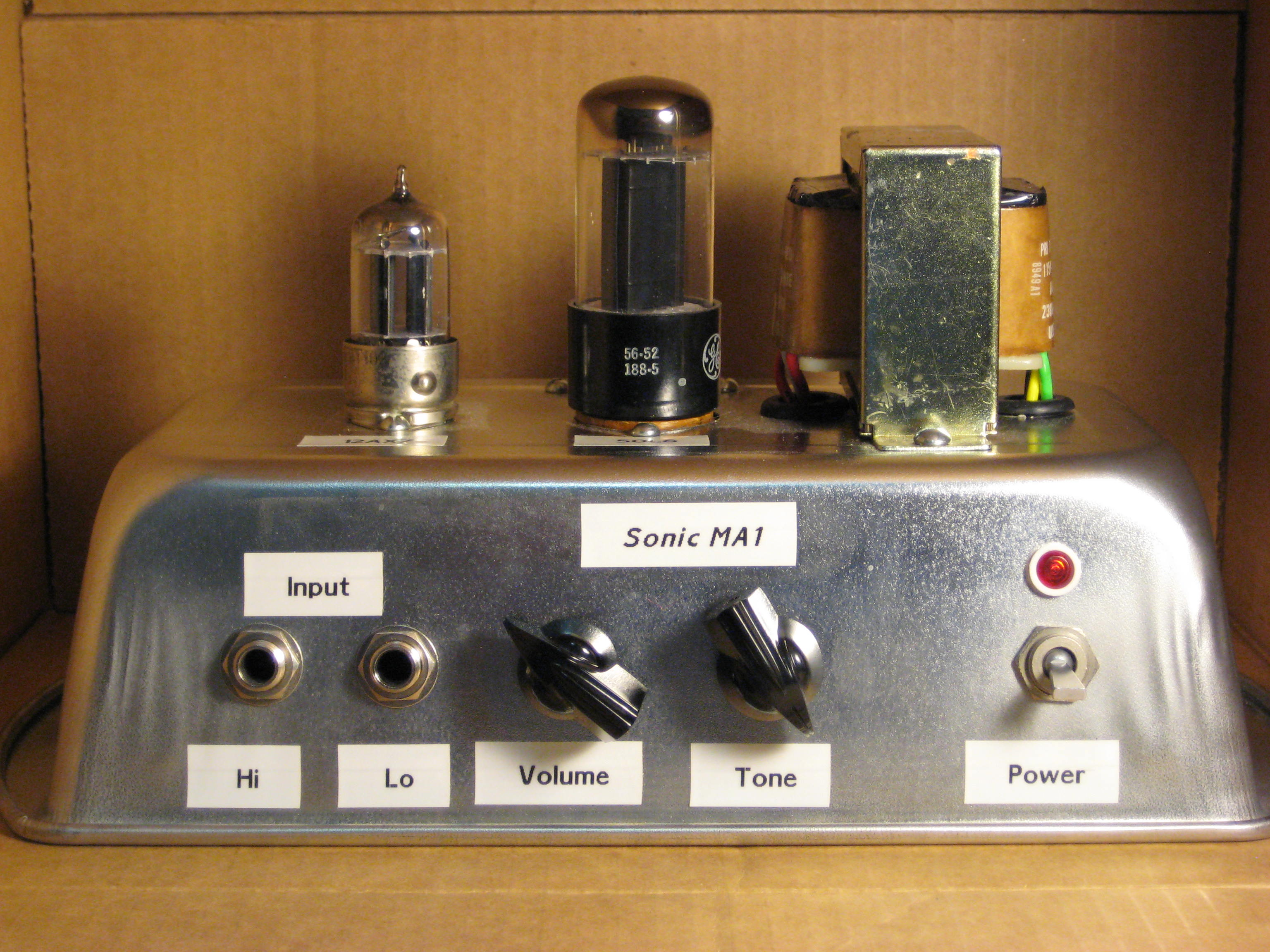 Kirtland Electronics Hand Wired Guitar Amplifiers Sonac 220 Wiring Diagram The Sonic